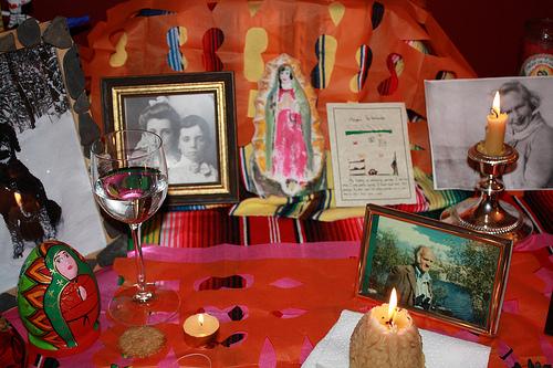Samhain ancestral altar